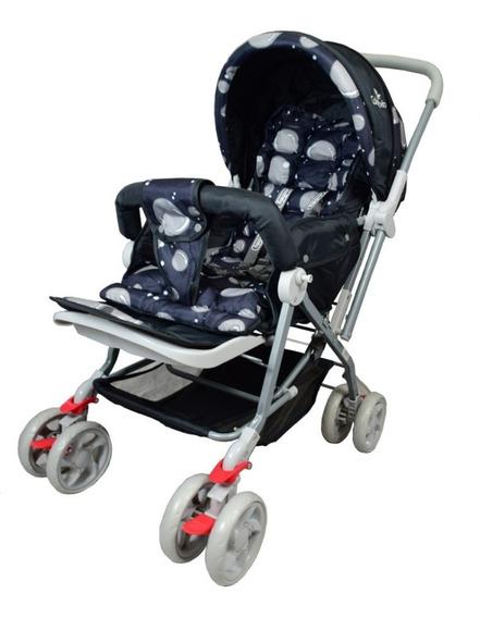 Carrinho De Bebê Passeio Vira Berço Alça Reversível