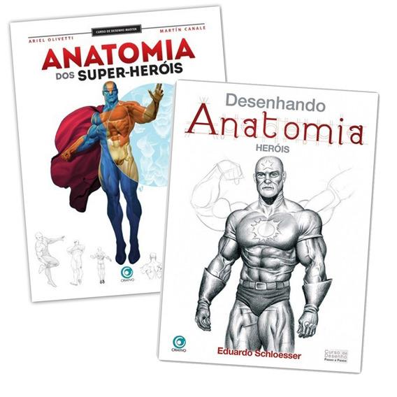 Curso Desenho Anatomia Dos Super Heróis - 2 Livros