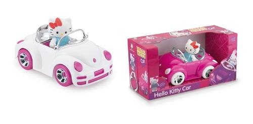 Imagem 1 de 1 de Carrinho Rosa Hello Kitty Com Bonequinho Articulavel
