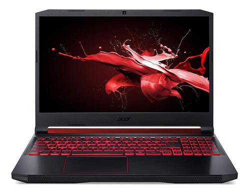 """Imagem 1 de 5 de Notebook gamer Acer Nitro 5 AN515-54 preta e vermelha 15.6"""", Intel Core i5 9300H  8GB de RAM 512GB SSD, Nvidia GeForce GTX 1650 60 Hz 1920x1080px Linux Endless"""