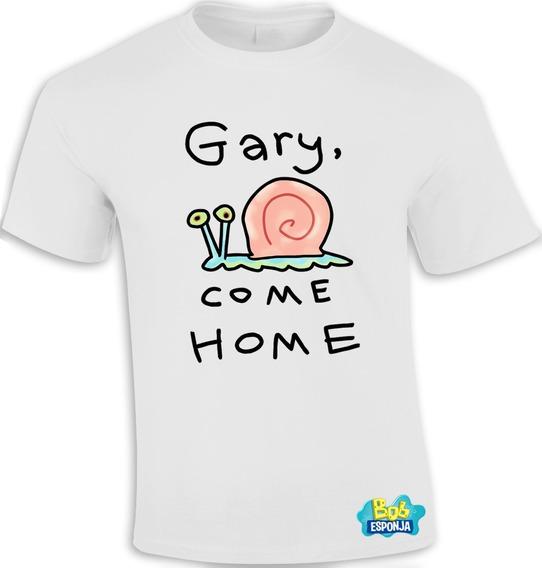 Playera Sublimada Gary Regresa A Casa Come Home Bob Esponja