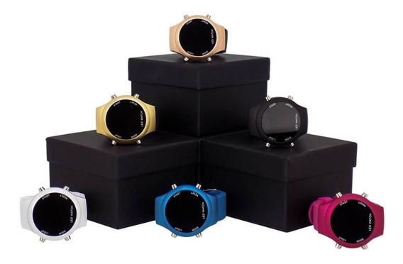 Kit 10 Relógio Led Feminino Dourado Bonito Promoção
