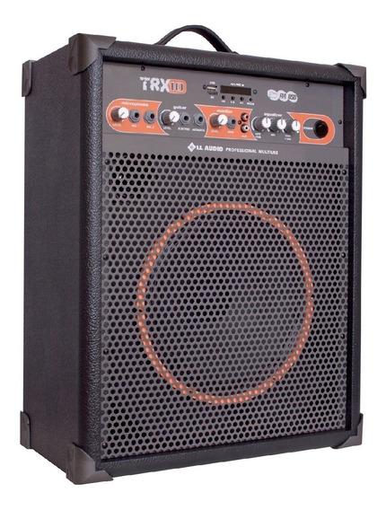 Caixa De Som Amplificada Multiuso Trx10 /60w Bluetooth + Fm