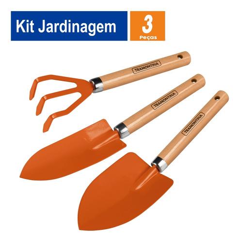 Imagem 1 de 8 de Kit Jardinagem Tramontina 3 Peças 2 Pazinhas E 1 Ancinho