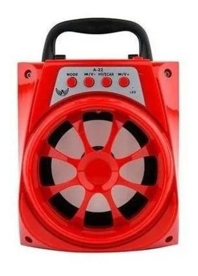 Sistema Alto Falante Móvel Mini Som Amplificado A22 Red C/nf