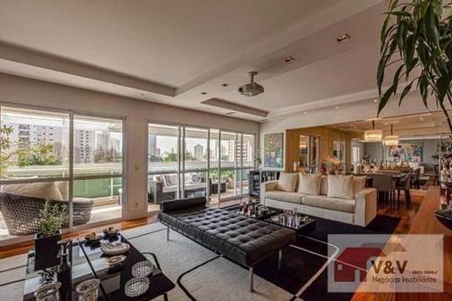 Imagem 1 de 15 de Apartamento Para Venda Em São Paulo, Brooklin, 4 Dormitórios, 4 Suítes, 6 Banheiros, 4 Vagas - Brklm976_2-930123
