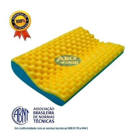 Travesseiro Cervical Anatômico De Espuma - 01 Unidade.