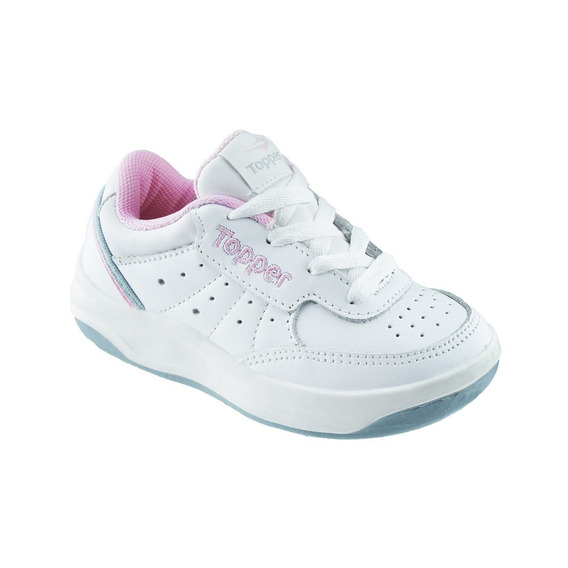 Zapatillas Topper X Forcer Kids Colegial 100% Cuero Natural