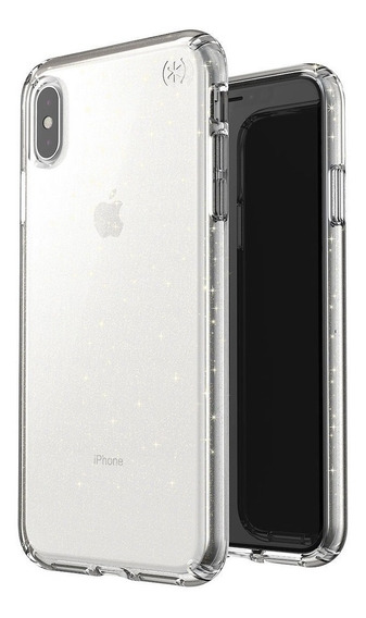 Funda Para iPhone Xs Max Speck Presidio Clear + Glitt