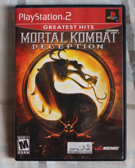 Mortal Kombat Deception Ps2 Original Seminovo Completo