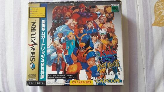 X-men Vs. Street Fighter - Sega Saturn Jpn Original
