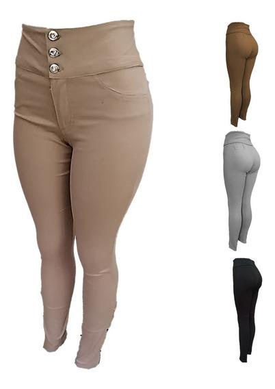 Pantalones Dama Control Abdomen Corte Alto By Plutonio