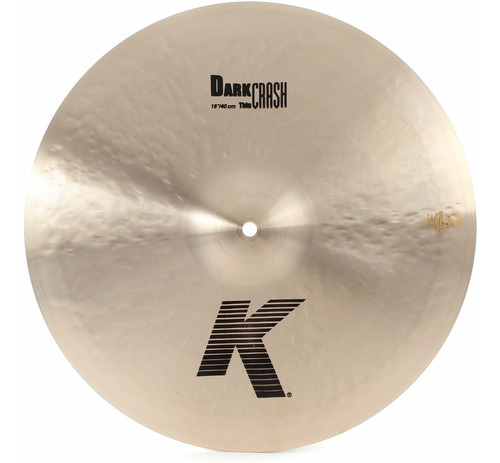 Zildjian K0902 K Dark Thin Crash 16 Platillo Para Batería