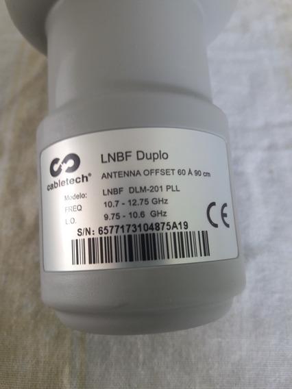 Lnb Banda Ku Cabletech Duplo Universal Novo Pronta Entrega