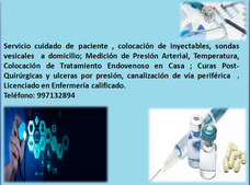 Enfermero A Domicilio, Inyectables,curas , Otros Servicios