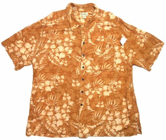 Camisa Hawaiana Tropical Floreada Surf Talle 2xl 962