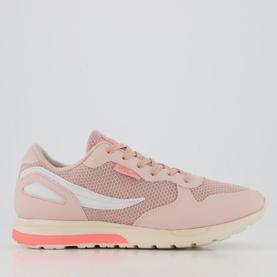 Tênis Fila Extra Runner Feminino Rosa E Branco