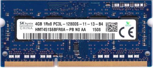 Hynix Memoria Ram Laptop 4gb Ddr3 1600 Pc3l Original Nuevo