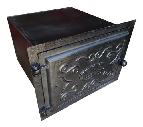Forno Frente Alumínio Fundido 3mm Grande Fechado 50x47x33cm