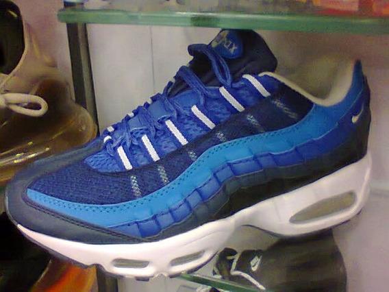 Tenis Nike Air Max 95 Azul E Branco Nº38 Ao 43 Original