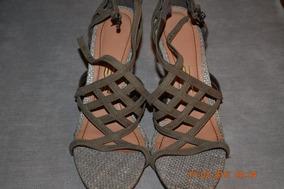 Sandálias, Cor Cinza, Nº 35, Marca Santa Lolla