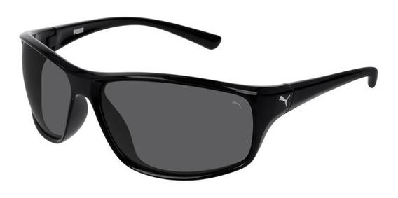 Óculos De Sol Puma Pe0075s 002 Preto Fosco / Cinza