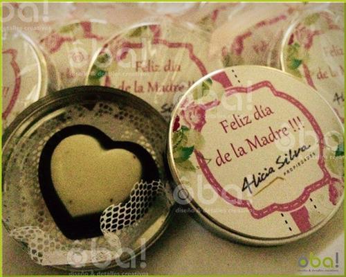 15 Latitas Personalizadas Día De La Madre Chocolate Empresas