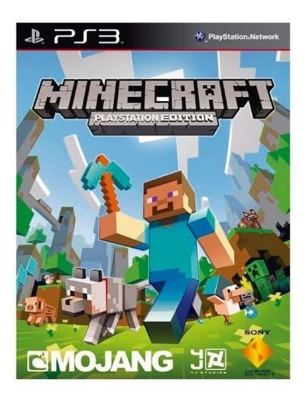 Minecraft Português Ps3 Psn Jogo