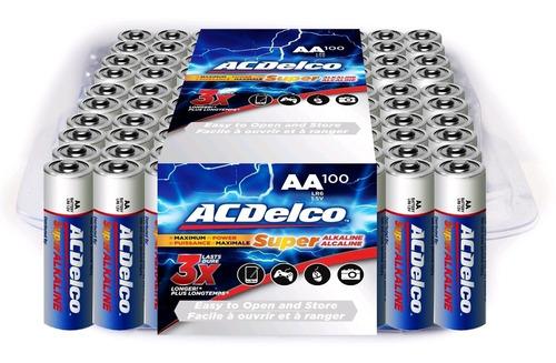 Pilas Aa / Baterías Aa Acdelco Paquete De 100 Unidades