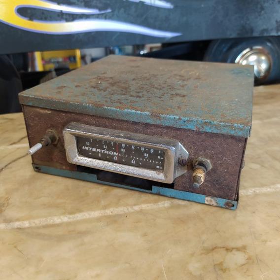 Rádio Automotivo Intertron Antigo Carro Ñ Emblema 3011