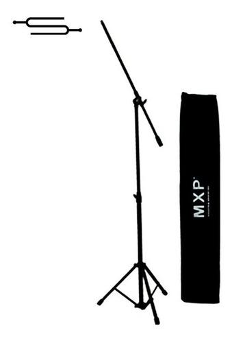 Imagen 1 de 4 de Pie Soporte De Microfono Jirafa Telescopico Mxp + Funda