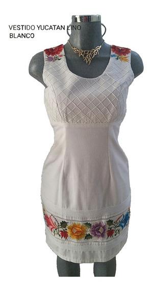 Vestido Bordado Artesanal Típico Modelo Yucatán