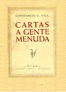 Constancio C. Vigil: Cartas A Gente Menuda