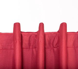 Cortina Black Out Textil X 2 Paños Lavables Listas P/ Colgar