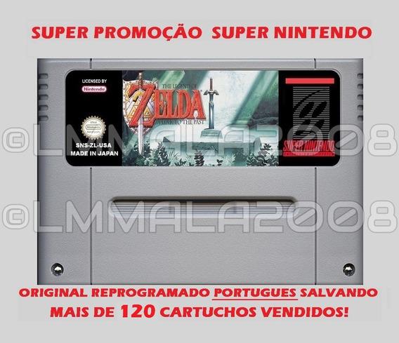 Original Legend Of Zelda Portugues Snes Super Nintendo Salva