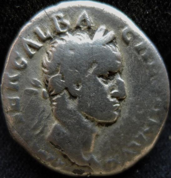 Moeda Antiga Denário Prata Galba Império Romano Raro