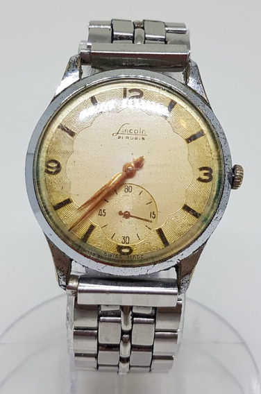 Relogio Vintage De Pulso Lincoln Swiss Made Manual