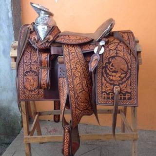 Silla De Montar Cincelada, Montura Charra Dibujada, Sillas