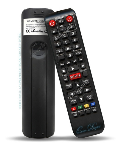 Control Remoto Blu Ray Para Samsung Netflix Ak59-00153a