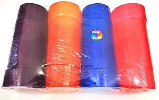 Paquete 4 Vasos Plastico Economicos 500ml Colores