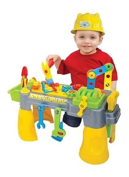 Brinquedo Bancadinha De Ferramentas Com Capacete Maral 2019