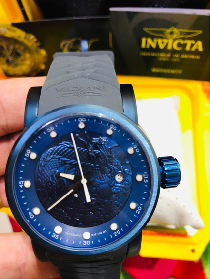 Relogio Invicta Yakuza Azul + Caixa Original