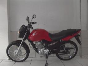 Honda Cg Fan Ks 125 I, Ano 2017, Cor Vermelha