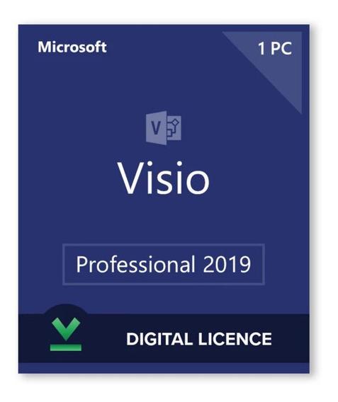 Key Original Visio2019 Pro Oem Ativação Online 32/64bits
