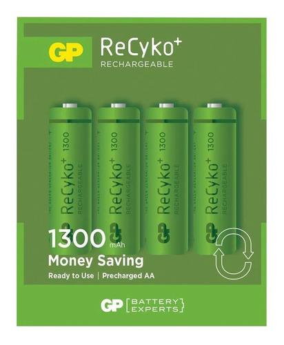 Pilas Recargables Aa 1300 Mah Gp Recyko+ X4 Unidades 1.2v