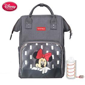 Bolsa Maternidade Disney Original + Aquecedor Mamadeiras Usb