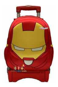 Ironman Avengers Mochila Kinder Carro Kawai