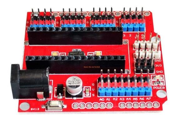 Módulo De Expansão Shield Adaptador Base Arduino Nano