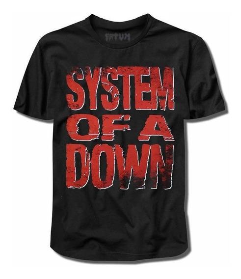 Camisa System Of A Down Logo (serj Tankian/slipknot/) Rock