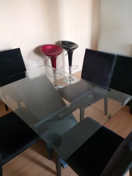 Mesa De Sala De Jantar C/ 4 Cadeiras( 1,40 × 0,90 Mesa)